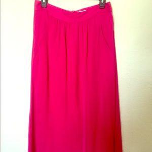 Pink Gap Maxi Skirt